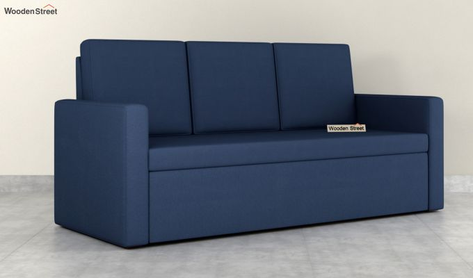 Claridge Fabric Sofa Cum Bed (Indigo Ink)-3