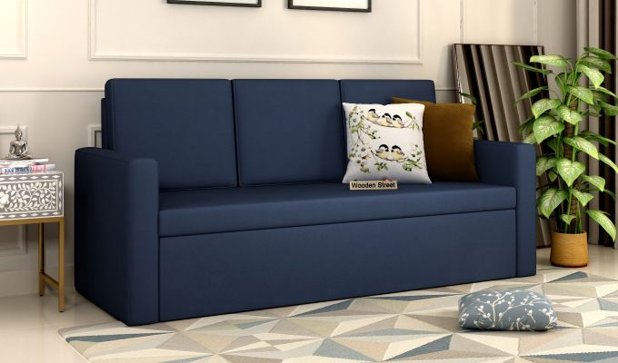 Claridge Fabric Sofa Cum Bed (Indigo Ink)-1