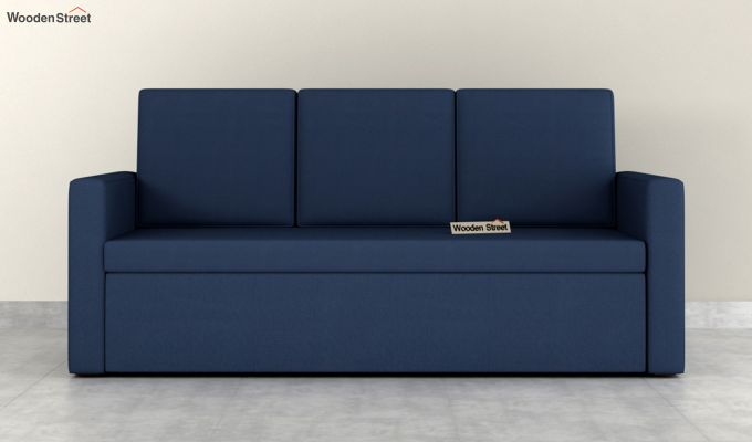 Claridge Fabric Sofa Cum Bed (Indigo Ink)-4