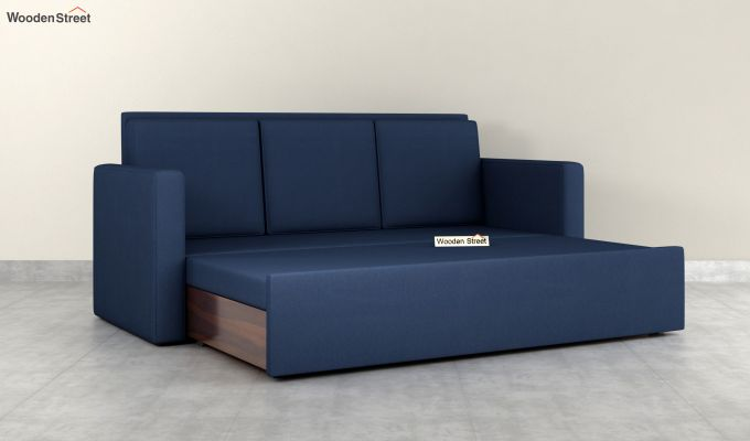 Claridge Fabric Sofa Cum Bed (Indigo Ink)-6