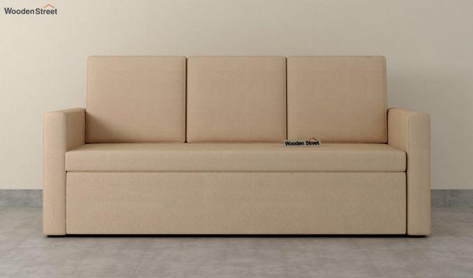 Claridge Fabric Sofa Cum Bed (Irish Cream)-3