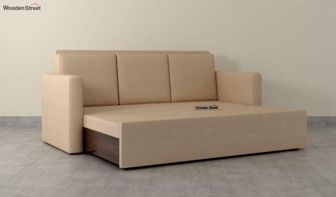 Claridge Fabric Sofa Cum Bed (Irish Cream)-5