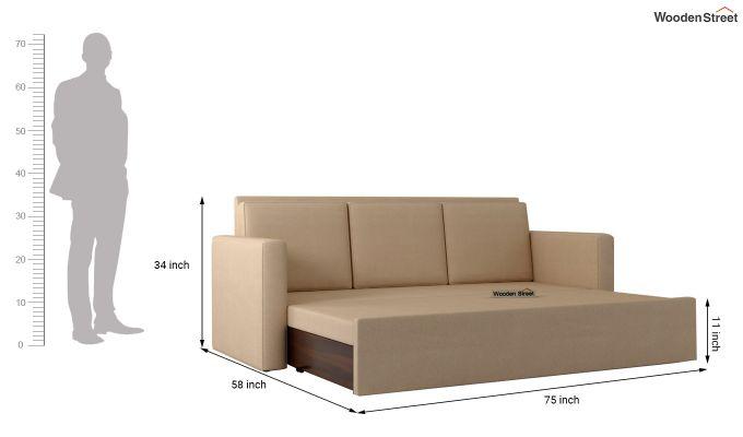 Claridge Fabric Sofa Cum Bed (Irish Cream)-6