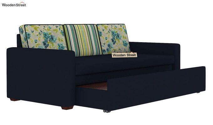 Claridge Sofa Cum Bed With Printed Cushions (Indigo Ink) (indigo ink)-6