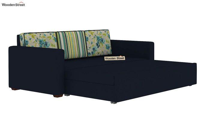 Claridge Sofa Cum Bed With Printed Cushions (Indigo Ink) (indigo ink)-8