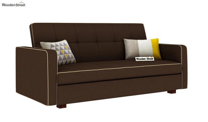 Clarin Fabric Storage Sofa Cum Bed (Classic Brown)-2