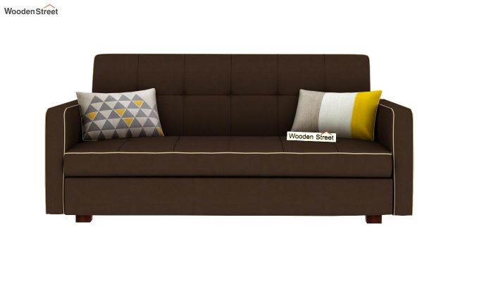 Clarin Fabric Storage Sofa Cum Bed (Classic Brown)-4