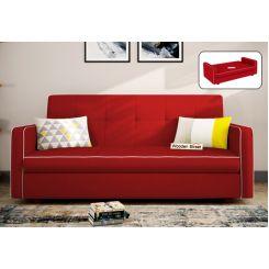 Clarin Fabric Storage Sofa Cum Bed (Dusky Rose)