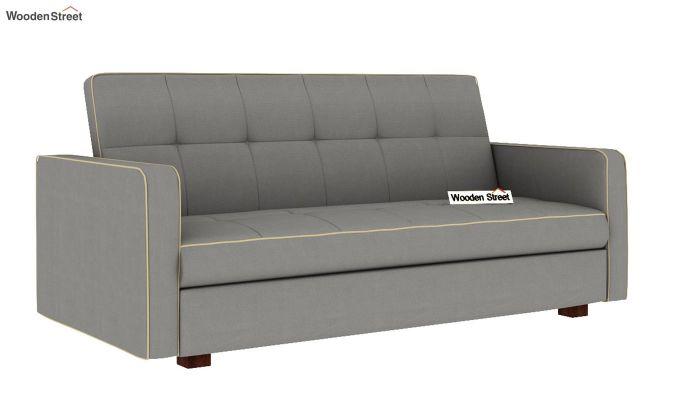 Clarin Fabric Storage Sofa Cum Bed (Warm Grey)-2