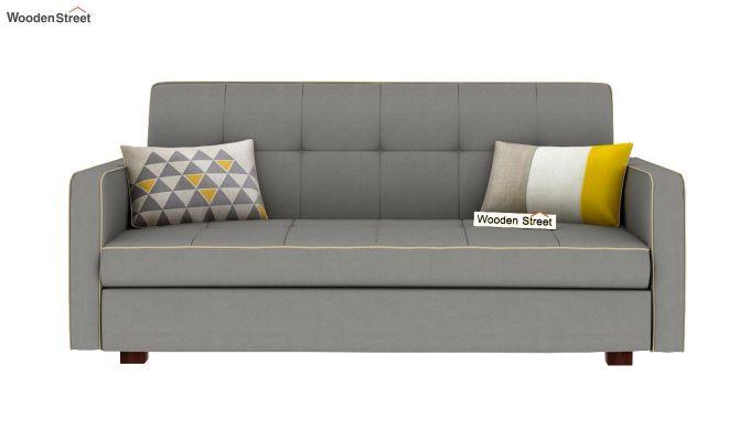 Clarin Fabric Storage Sofa Cum Bed (Warm Grey)-3