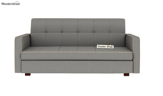 Clarin Fabric Storage Sofa Cum Bed (Warm Grey)-4
