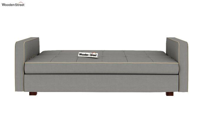 Clarin Fabric Storage Sofa Cum Bed (Warm Grey)-5