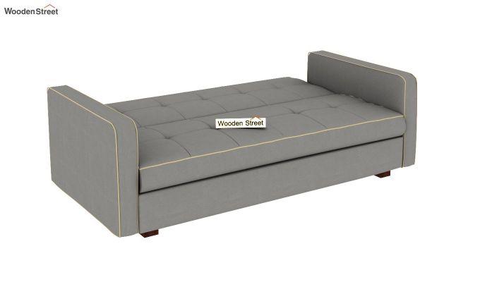 Clarin Fabric Storage Sofa Cum Bed (Warm Grey)-6