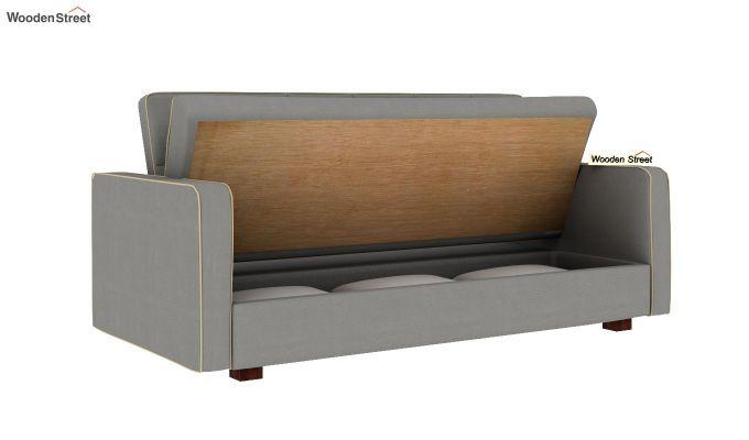 Clarin Fabric Storage Sofa Cum Bed (Warm Grey)-7