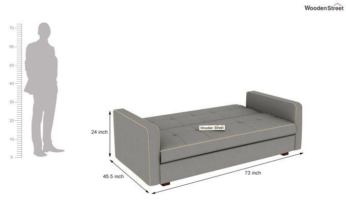 Clarin Fabric Storage Sofa Cum Bed (Warm Grey)-8
