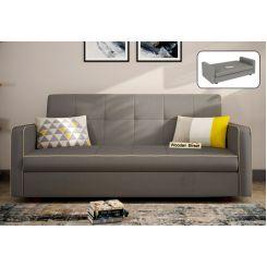 Clarin Fabric Storage Sofa Cum Bed (Warm Grey)