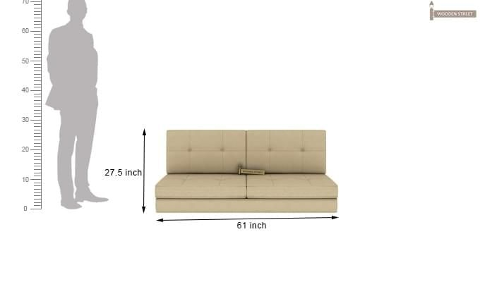 Coleman Futon Sofa Cum Bed (Two Seater, Ivory)-13