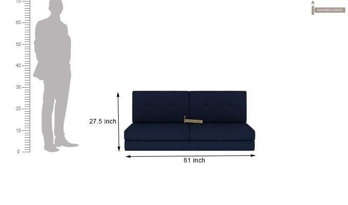 Coleman Futon Bed (Two Seater, Blue)-13