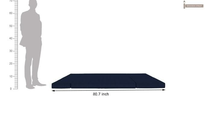 Coleman Futon Bed (Two Seater, Blue)-14