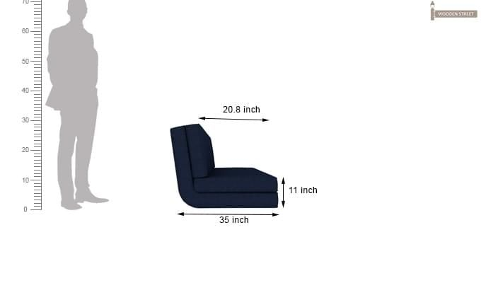 Coleman Futon Bed (Two Seater, Blue)-15