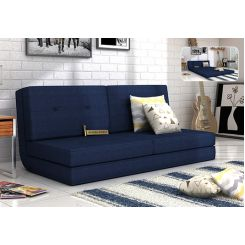 Coleman Futon Bed (Two Seater, Blue)