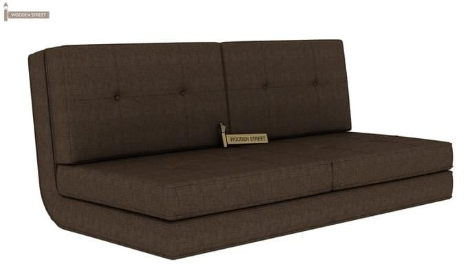 Coleman Futon Bed (Two Seater, Brown)-1