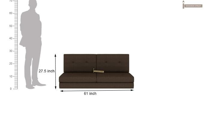 Coleman Futon Bed (Two Seater, Brown)-12