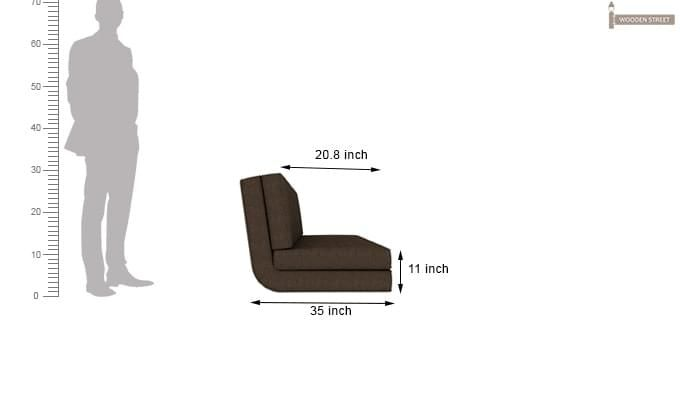 Coleman Futon Bed (Two Seater, Brown)-13