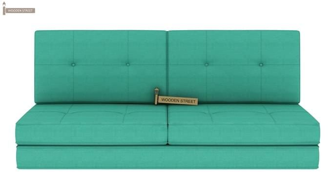 Coleman Futon Bed (Two Seater, Cyan)-2