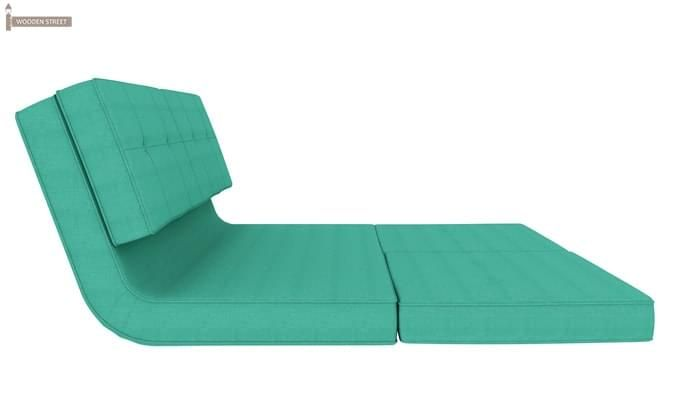 Coleman Futon Bed (Two Seater, Cyan)-5