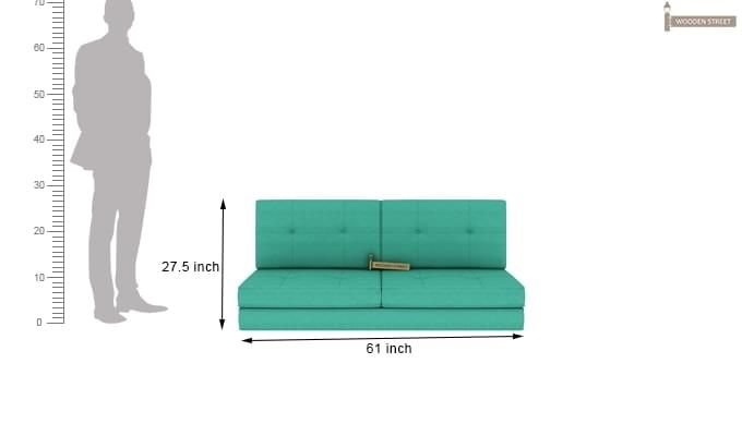 Coleman Futon Bed (Two Seater, Cyan)-11