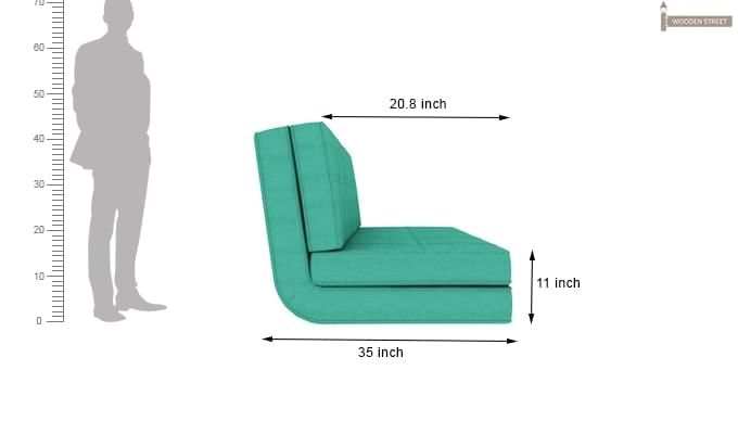 Coleman Futon Bed (Two Seater, Cyan)-13
