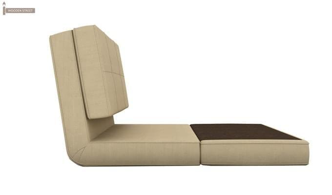 Coleman Futon Single Seater Sofa Cum Bed (Ivory)-3