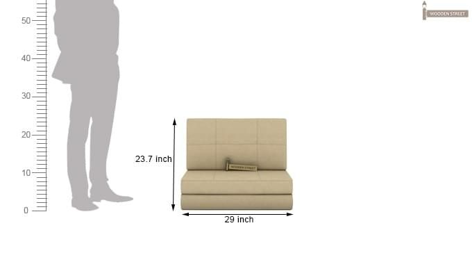 Coleman Single Futon Bed (Ivory)-5
