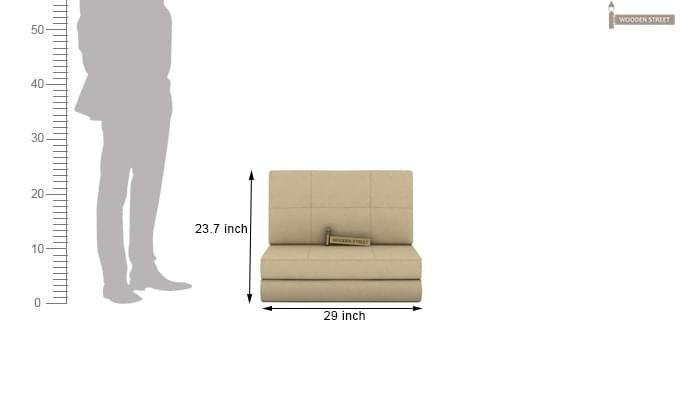 Coleman Futon Single Seater Sofa Cum Bed (Ivory)-5