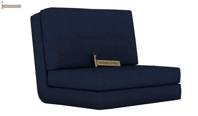 Buy Coleman Futon Single Seater Sofa Cum Bed Blue Online in India