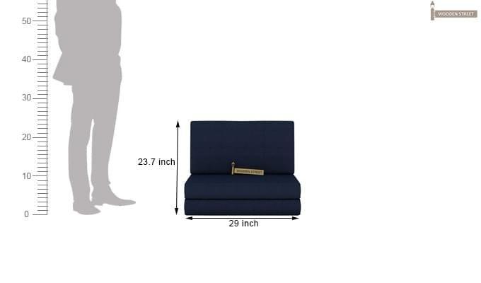 Coleman Single Futon Bed (Blue)-9