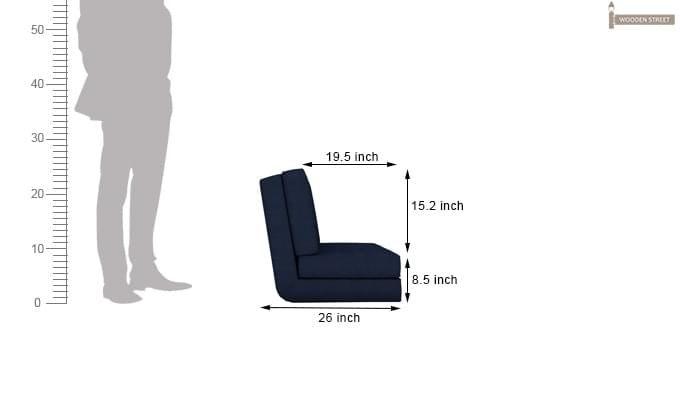 Coleman Single Futon Bed (Blue)-10