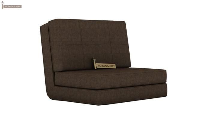 Coleman Futon Single Seater Sofa Cum Bed (Brown)-1