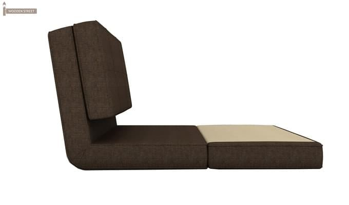 Coleman Futon Single Seater Sofa Cum Bed (Brown)-4