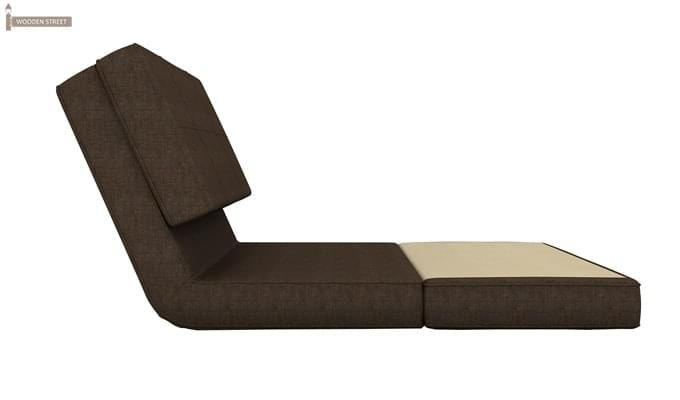 Coleman Futon Single Seater Sofa Cum Bed (Brown)-5