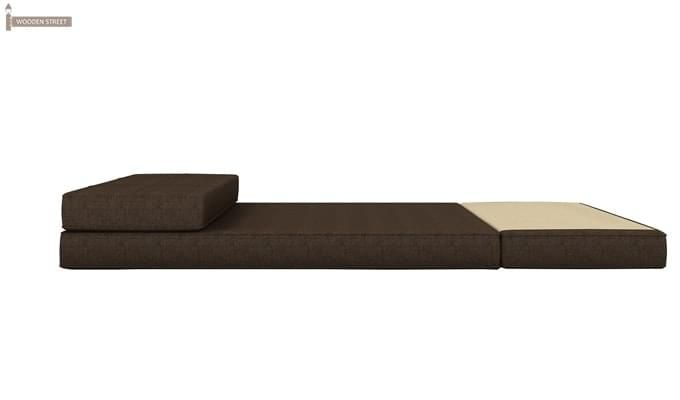 Coleman Futon Single Seater Sofa Cum Bed (Brown)-6