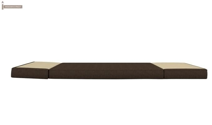 Coleman Futon Single Seater Sofa Cum Bed (Brown)-7