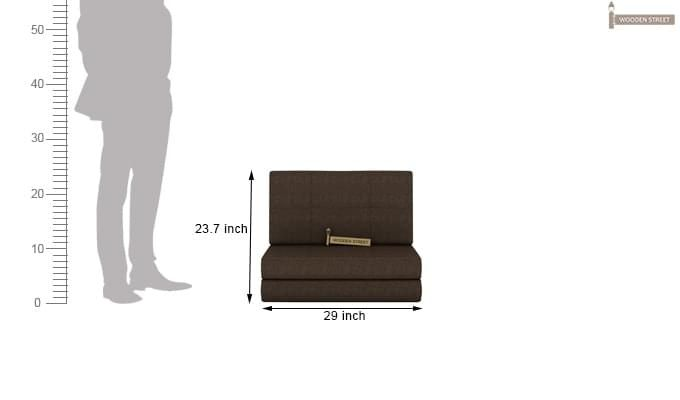 Coleman Futon Single Seater Sofa Cum Bed (Brown)-8