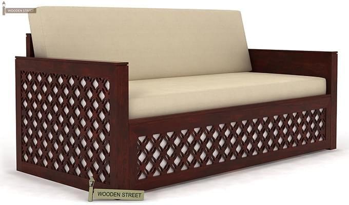 Corsica Sofa Cum Bed (Queen Size, Mahogany Finish)-2