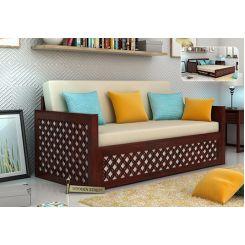 Corsica Sofa Cum Bed (King Size, Mahogany Finish)