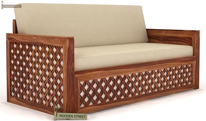 Remarkable Buy Corsica Sofa Cum Bed King Size Teak Finish Online In India Wooden Street Creativecarmelina Interior Chair Design Creativecarmelinacom