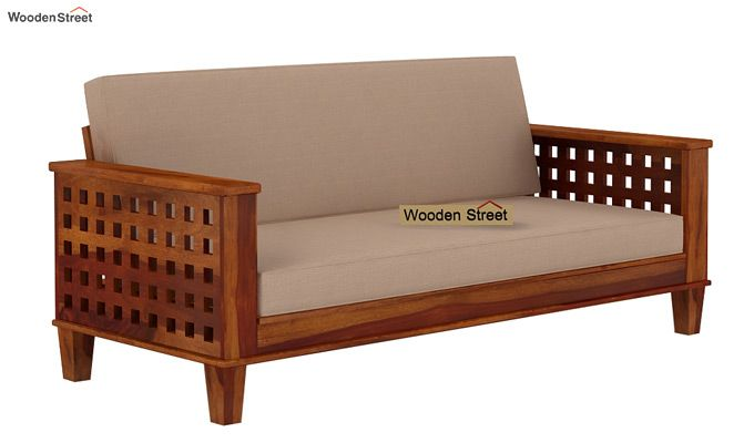 Cyprus Sofa Cum Bed (King Size, Honey Finish)-3