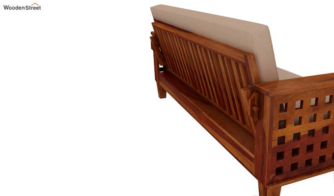 Cyprus Sofa Cum Bed (King Size, Honey Finish)-6