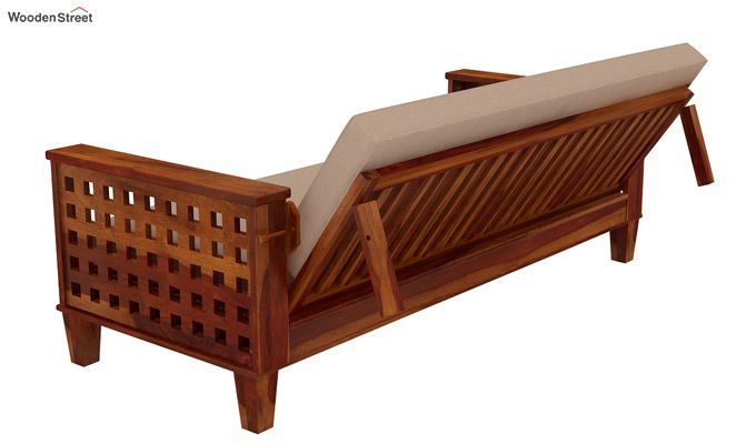 Cyprus Sofa Cum Bed (King Size, Honey Finish)-7